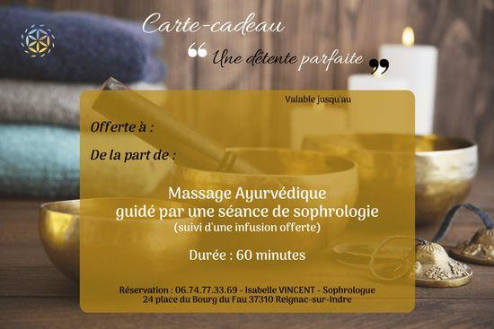 carte cadeau massage sophrologie loches tours