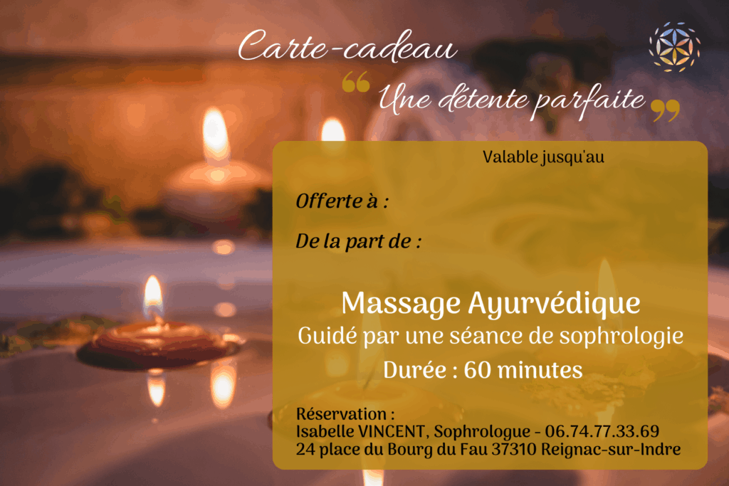 Carte cadeau sophrologie sophrologue massage tours amboise